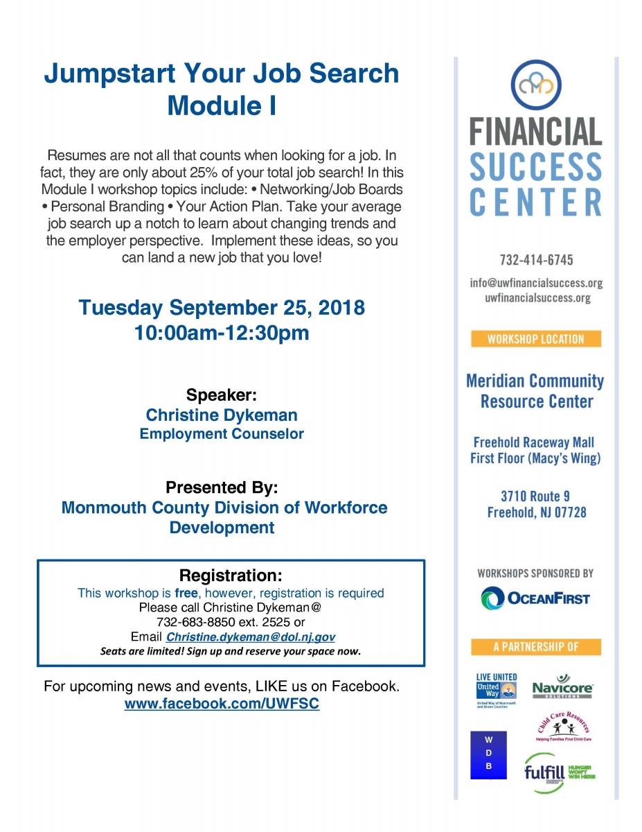 Financial Success Center | United Way of Monmouth and Ocean