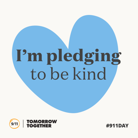 I'm pledging to be kind